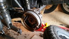 bonded brake shoes fitted